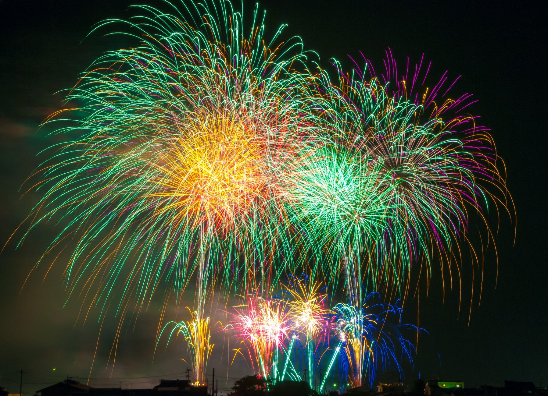 sky lights night new year s eve
